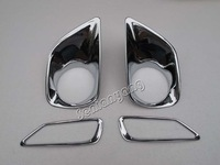 Front Rear Fog Light Cover trim Chrome for 2013 2014 Toyota Rav4 4pcs
