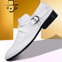 X . sir men's 2013 dog ivory genuine leather male shoes daily casual leather male shoes hasp shoes
