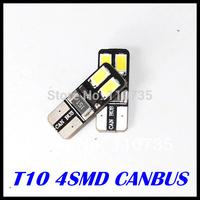 2014 NEWS !! Free shipping 10PCS/lot Car Auto LED T10 194 W5W Canbus 4 smd 5630 5730 LED Light Bulb No error led light