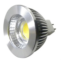 10pcs LED COB mr16 spotlight 5W 420LM 12V AC/DC Warm/Pure/Cool White