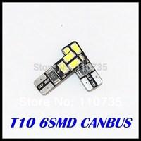 2014 NEWS !! Free shipping 100PCS/lot Car Auto LED T10 194 W5W Canbus 6 smd 5630 5730 LED Light Bulb No error led light