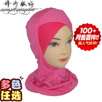 Clothing supplies bandanas hijab basic cap scarf two-color color block decoration