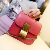 2014 women's handbag the trend of fashion vintage chain bag candy color messenger bag mini bags  Free shipping
