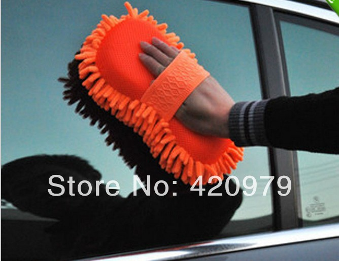 Hot Selling utility Chenille clean sponge cloth,Car cleaning mitt for glass/PC car care cleaning tool.(China (Mainland))