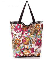 Nylon waterproof shopping bag shoulder bag handbag leopard print fashion zipper women's handbag  Free shipping