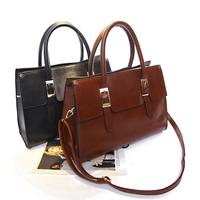 Winter fashion oil skin one shoulder cross-body handbag women's handbag bags female vintage bag shaping bag  Free shipping