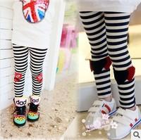2014 new girls love Rei Kawakubo mark stripes Slim Leggings 2-8 years old free shipping