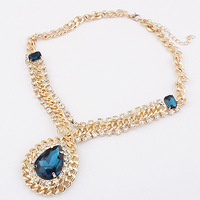 European and American jewelry wholesale European and American retro palace droplets Crystal necklace fashion new hot XL0076