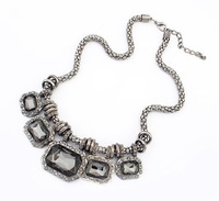 European and American punk retro luxury jewelry wholesale Crystal necklace new XL0678