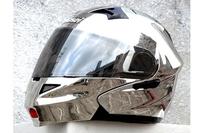 EMS Free Shipping Masei 815 Silver Chrome Modular Flip-Up Motorcycle Helmet S M L XL Silver