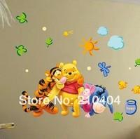 Winnie The Pooh & Friends Wall Sticker Kids Nursery Bedroom Decor Decal Reusable Decor Art Vinyl Room S-63
