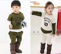 Children suit the new 2014 children's clothing splicing sleeve children suit cotton long sleeve children's sportswear