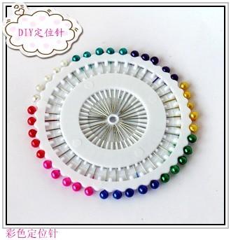 20140317 Diy handmade cloth locating pin multicolour beads needles box 40 7.5(China (Mainland))