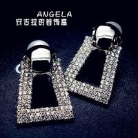 Fashion fashion elegant earrings luxury full rhinestone big stud earring