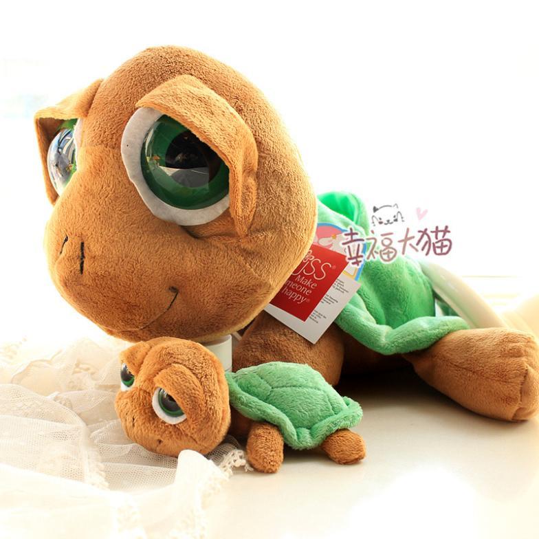 RUSS parent-child sea turtle big eyes plush toy doll(China (Mainland))