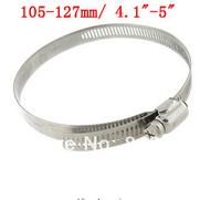Adjustable 105-127mm Range Release Bolt Metal Hose Tube Clamp