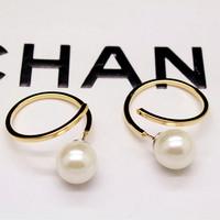 Fashion elegant pearl earrings brief stud earring