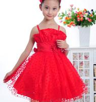 Child girls clothing kid's  one-piece dress dance costume princess dress wedding dress suspender   summer clothing