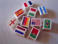2014 World Cup Brazil Flag Tattoo 3x4.5CM Stick-on Tattoo 10 pcs /lot free shipping /Jane