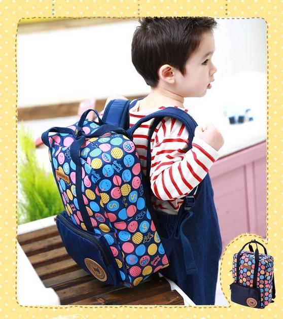 Lemonkid coréen du commerce extérieur sac d'école des enfants garçons et filles intemporelleancient piscine. sac à bandoulière sac double- package utilisation smiley