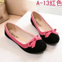 About 1size smaller Euro size36-40 women's shoes lady's single shoes  women flats  xinsdtt bowknots 3 colors