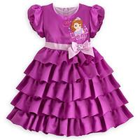 2014 spring and summer new fashion Female child short-sleeve dress kids dresses for girls girl print dress brand