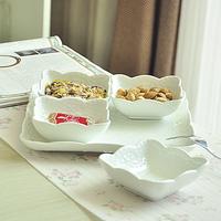 Fashion tableware embossed lace white ceramics mug-up plate set gift box