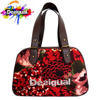 Free Shipping 2014 DESIGUAL SAC A MAIN FEMME NEUF porte MAIN en Cuir PU & Canvas , Women tote handbag, shoulder bag AA++