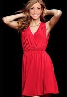 2014 new summer beach clothing sleeveless V-neck beach dress sexy fashion sweet temperament