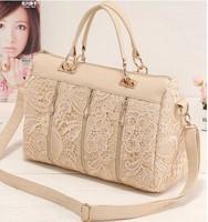 2014 New fashion woman handbag High quality the princess lace shoulder bag Zipper decoration tote messenger bags