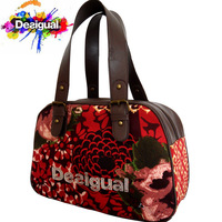 New DESIGUAL Fashion Big red Printing Handbags for Women brand tote, Girl handbag , lady shoulder bag Free Shipping