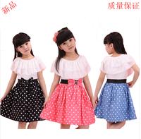 new 2014 Children dress girls dress kids dresses Polka Dot pattern