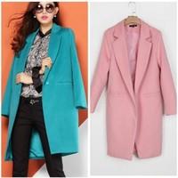 Woolen Suit Lady Coat Size S/M/L/XL 2014 New Spring Autumn Winter Fashion Women's coat Female Slim Outerwear Woman Blazer Jacket
