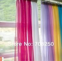 Discount~ wholesale 2pcs/lot 140cm*245cm europe gauze curtain 20 kinds of color, voile curtains choose different colors