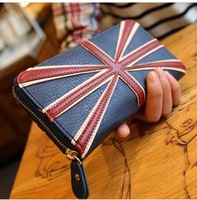 2014 New Arrival ladies United Kingdom Flag Style PU Leather long Wallet Women Cluth Bag Purse,UK Fashion Style