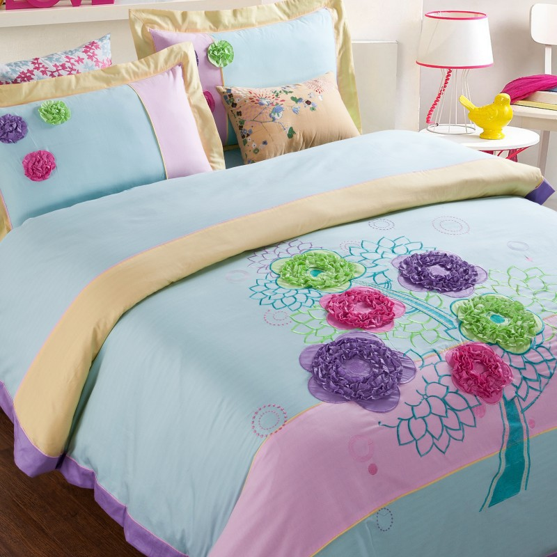 Ribbon Embroidery Designs For Bed Sheet Images And Information