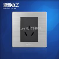 Free Shipping, POLO luxury wall switch panel, Wall Socket Panel, 3-Hole Socket ,110~250V, 86*86mm