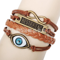 Best friend bracelet hand catenary restoring ancient ways of foreign trade Eye eye infinity bracelet