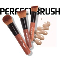 2014 new free shipping set kits concealer powder Flat Top Makeup Brush Professional Cosmetic Blusher Face Mineral Foundation b2
