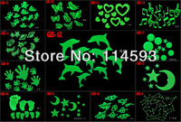 15Designs Glow In Dark Bedroom Ceiling Wall Stick Fluorescent Stars Moons Festival Decals