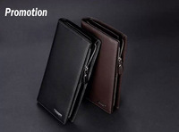 men wallets 100% genuine leather purse famous brand design high quality men's leather wallet 201403151C