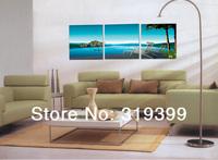 Frameless, Print on canvas,3pieces/set,Scenery YSM307, High quality print wall art, free shipping via china post,