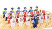 100%Good Diy Minifigure 25PCS/LOT  Building Block Doll FIT to All brand Loose bricks FIT LXGX Decool Siluban ...