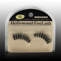 Newlook Hollywood taiwan handmade sharpened end of eye elongated stems thick transparent natural bare makeup false eyelashes 70