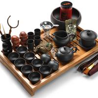 Yixing set kung fu tea set tools bamboo tea tray tea sea