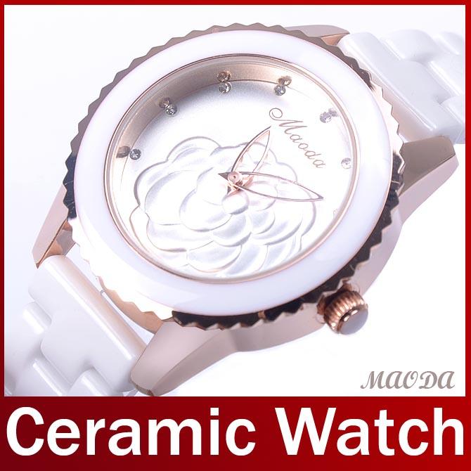 2014 Luxus mode echte keramik-band frauen dame kleid zu sehen kawaii Zifferblatt lässigen Jahrgang analog keramik uhr armbanduhr