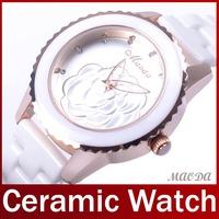 2014 Luxury Fashion Real Ceramic Band Women Lady Dress Watch Kawaii Dial Casual Watch Vintage Analog Ceramic Watch Wristwatch