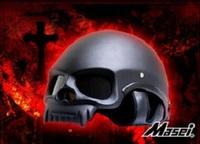 Masei Matt Black Skull 419 Motorcycle Chopper DOT Helmet FREE Shipping Worldwide Free Size Matt Black