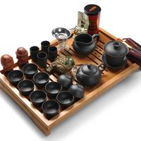 Tea set yixing kung fu tea set bamboo tea tray tea sea