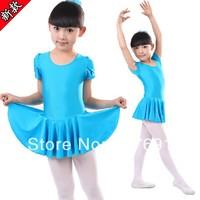 Free Shopping Child Dance Tulle Dress Female Child Ballet Skirt Infant Short-sleeve Dress